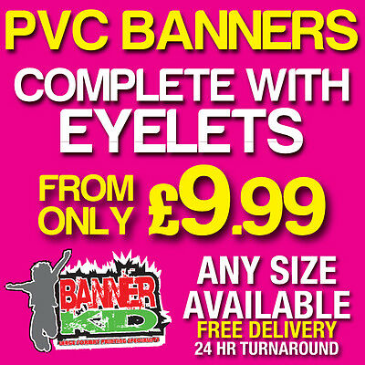 Pvc Banners - Printed Outdoor Sign Vinyl Banners Advertising Uk Seller (4)