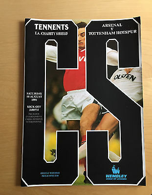 1991 Charity Shield : ARSENAL v TOTTENHAM HOTSPUR 10th August 1991