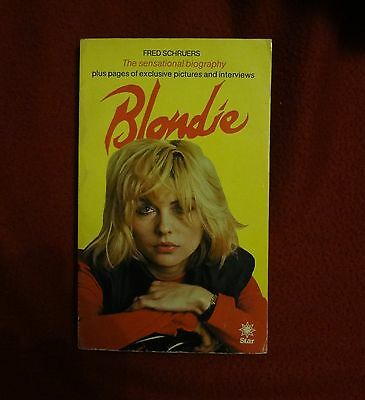 Blondie 'The sensational biography' by Fred Schruers UK first print 80 SOLID VG+