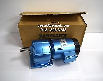 New Parvalux 125w SD12.LIS DC SHUNT Electric Motor Gearbox 200/220vDC 10RPM