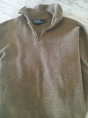 Men's Polo Pullover Sweater Size M