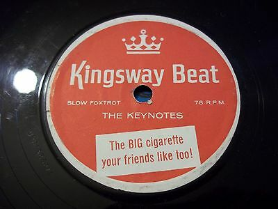Rare Vintage 78 Rpm Record Cigarette Advertising Kingsway Beat The Keynotes
