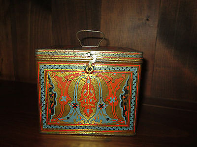 Antique NBC Uneeda National Biscuit Co. Nabisco Cookie Cracker Tin Box  USA