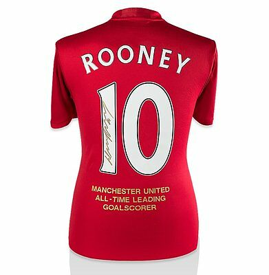 Wayne Rooney Signed Manchester United Shirt - Special Edition All Time Leading G