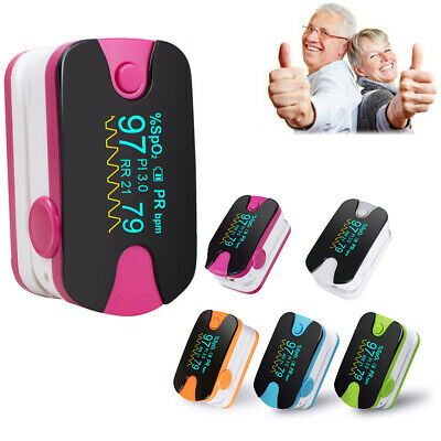 Spo2/PR Tester Blood Oxygen Heart Rate Monitor OLED Finger Pulse Oximeter FDAA