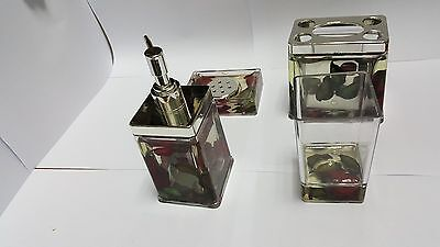 4 Pieces Bathroom Accessories Set  Dispenser/Toothbrush Holder/Tumbler/Soap Dish