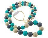 Chew-Choos Playdate Silicone Teething Necklace. Modern Eco-friendly Baby Teether