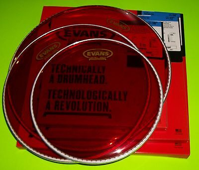 Evans RED Hydraulic Drum Head Pack 10 12 14 FUSION
