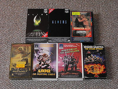 Lot of 7 BETA Horror & Sci-Fi Movies Aliens, Def-Con 4, Damnation Alley More