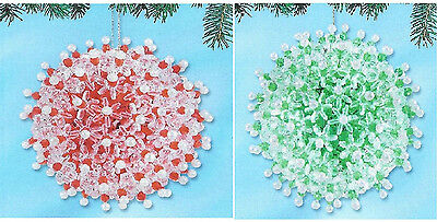 Kit makes 2 pc Winter Frost 4 Color choices Beads, Sequins, Pins Christmas Orn