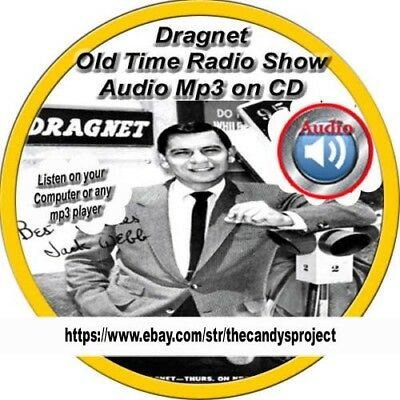 Dragnet Old Time Radio Shows Jack Webb Sergeant Joe Friday Audio Mp3 DVD