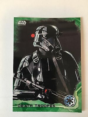 Topps Cards Star Wars Rogue One Death Trooper Green