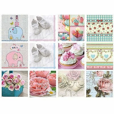 20 Pck Beautiful Vintage Decorative Paper Napkins Baby Shower Party Occasion