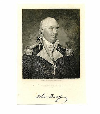 JOHN BARRY, Continental Navy Revolutionary War/US Commodore, Steel Engraving