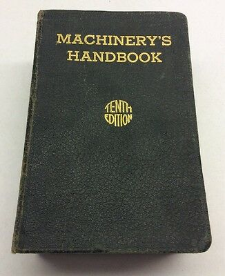 Machinery Handbook 1940 W/ Thumb Index 10th Edition