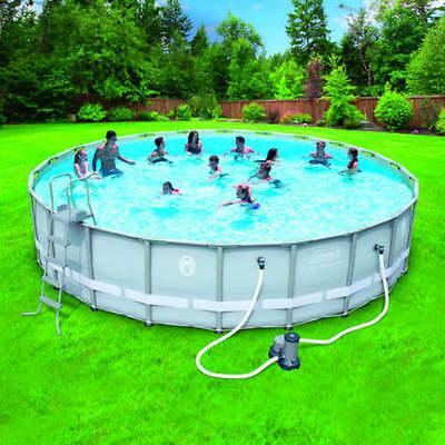coleman 22 x 52 power steel frame above ground swimming pool set