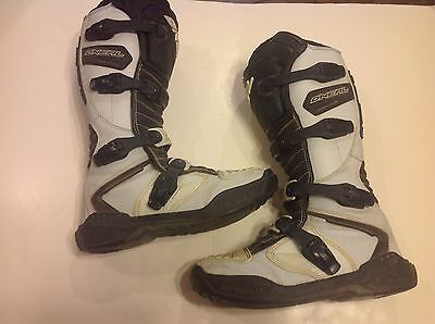 O'Neal MX Motocross Boots Size 11  White Motorcycle