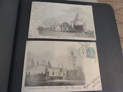 Antique photograph album of French postcards c1900