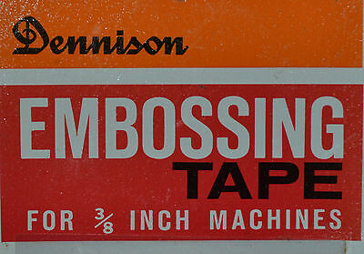 Dennison Embossing Tape for 3/8 Inch Machines Dymo Compatible 144 Inches Long