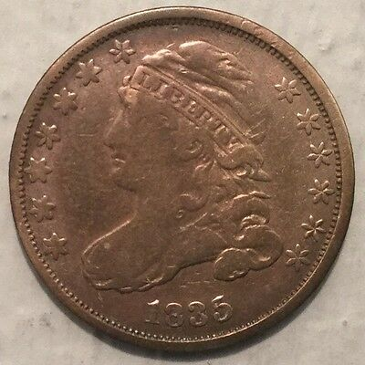 1835 10C Capped Bust Dime F