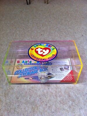 Ty Beanie Babies Collector's card box and cards