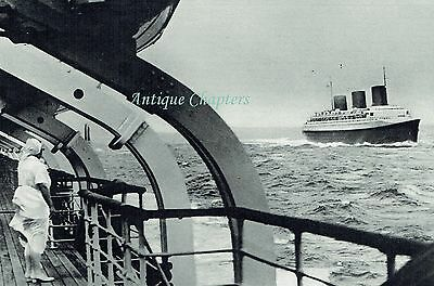 SS Normandie Maiden Voyage Leaving Le Havre Blue Riband 1935 Photo Article