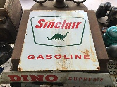 Sinclair Gasoline Porcelain Gas Pump Sign