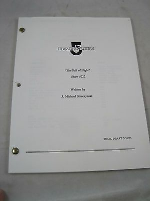 Vintage Television TV Script #51 Sci Fi  Babylon 5 The Fall of Night Show #222