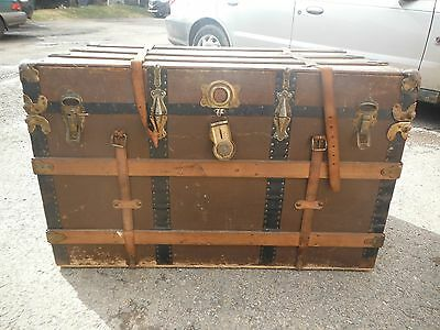 Great Antique Wooden Trunk