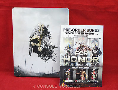 For Honor * Empty Steelbook Case No Game * + Pre Order Legacy Dlc Pack  Ps4 Xb1