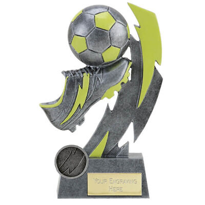 Football Glow in the dark Award Trophy Glo Active Gold Flash 3 sizes