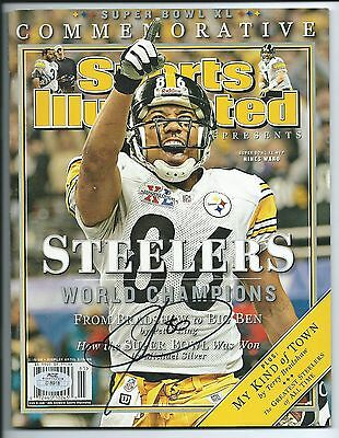 Hines Ward, Pgh Steelers, Signed Super Bowl XL Sports Illustrated, MVP, Clean