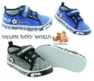 Canvas boys shoes UK 3 - 12 - TRAINERS Real leather insoles! Toddler NEW KIDS