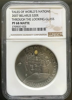 Belarus 2007 20 Rubles Fairy Tales Through the Looking-Glass NGC Silver Coin