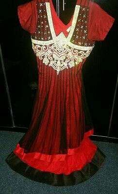 Black & Red  Asian Party Dress - New Style