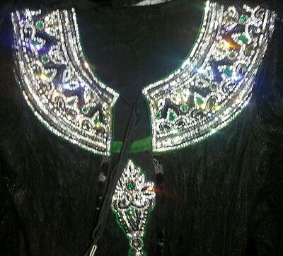 Black And Green Asian Party Dress