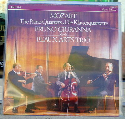 "Beaux Arts Trio/Bruno Giuranna ""The Piano Quartets 1 & 2"" RARE Philips LP"