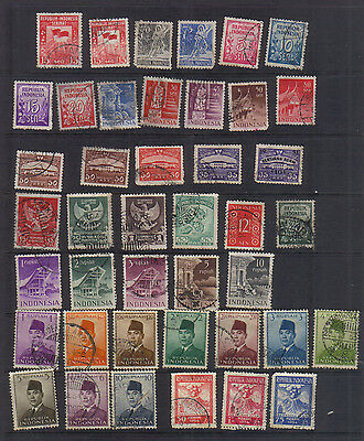 Indonesia 1949-54 Used collection