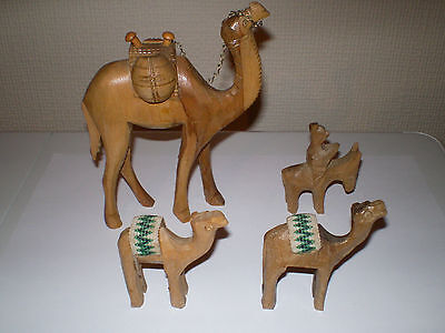 Hand Carved Camels And A Donkey ?