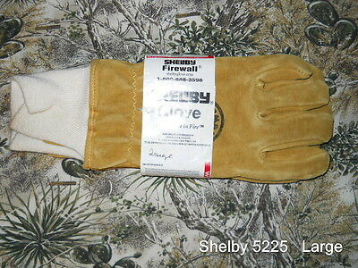 Shelby 5225   Firewall Leather structural firefighting gloves   Size - Large