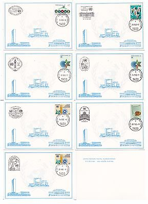 United Nations Austria 1982 7 Cards  (Special Pmks)