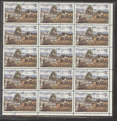 Stamps Canada, 601 $2, 1973, 1 block of 15 used stamps.