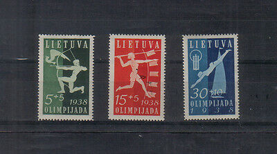Lithuania 1938 Olympiad set to 30c lightly mounted mint