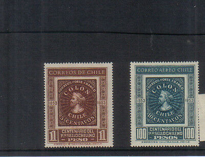 Chile 1953 Stamp Centenary set unmounted mint