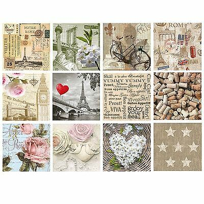20 Pck Vintage Decorative Paper Napkins Decoupage Craft Capitals Party Occasion