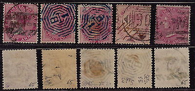 India 1865 - SG # 65 - Used stamps