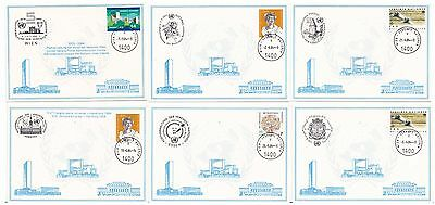 United Nations Austria 1984 6 Cards  (Special Pmks)