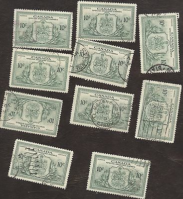 Stamp Canada, # E11, 10¢, 1946, 1 Lot of 10 used stamps.