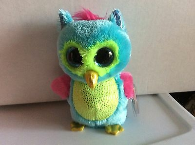 """Ty Beanie Boo OPAL the Owl 6"""" Justice Exclusive MWMT"""