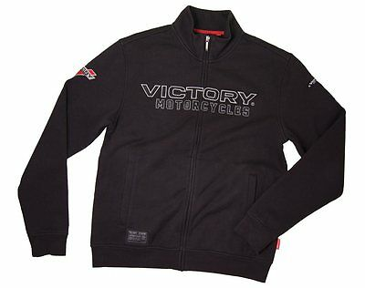 Victory Motorcycle Mens Zip Thru 1 Blk Size 3X-Large 286324314